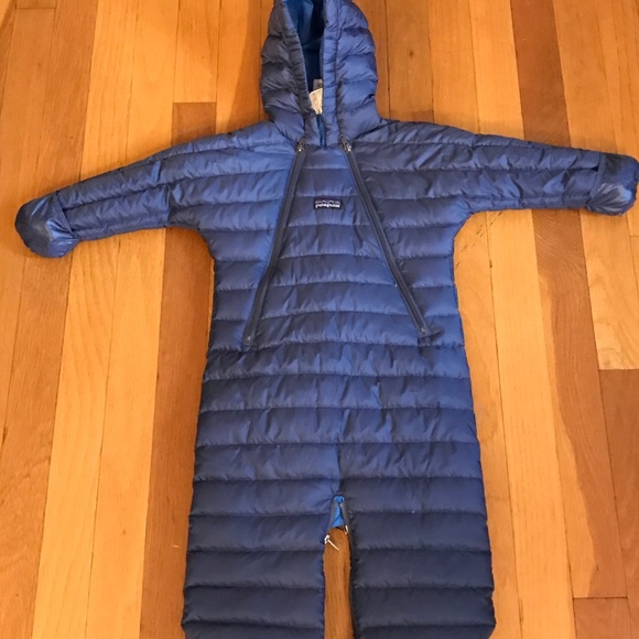 dd5313e1f Patagonia Other | Baby 6m Goose Down Bunting Snowsuit Blue | Poshmark